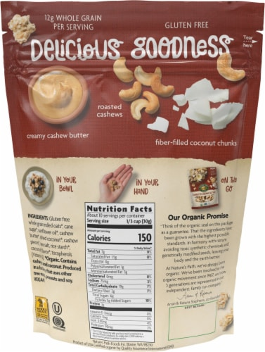 Nature's Path Organic® Coconut & Cashew Butter Granola Perspective: back