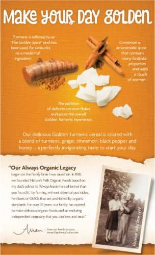 Nature's Path Organic Golden Turmeric Cereal Perspective: back