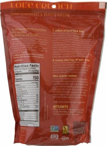 Nature's Path Organic Love Crunch® Dark Chocolate & Peanut Butter Granola Perspective: back