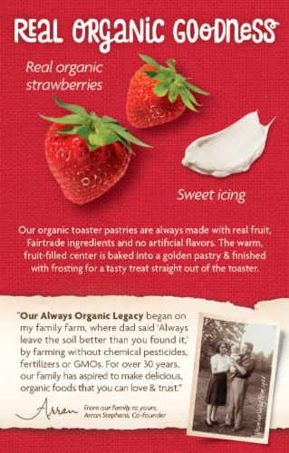 Nature's Path Organic Berry Strawberry Frosted Toaster Pastries Perspective: back
