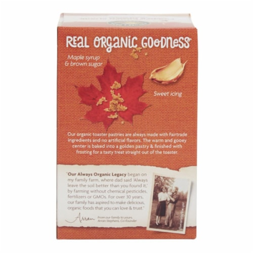 Nature's Path Organic Frosted Mmmaple Brown Sugar Toaster Pastries Perspective: back