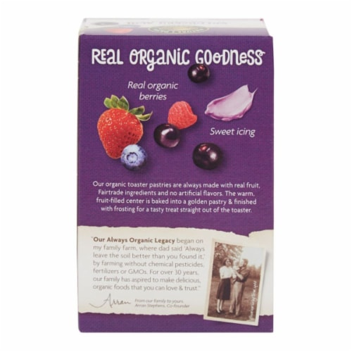 Nature's Path Organic Frosted Wildberry Acai Toaster Pastries Perspective: back