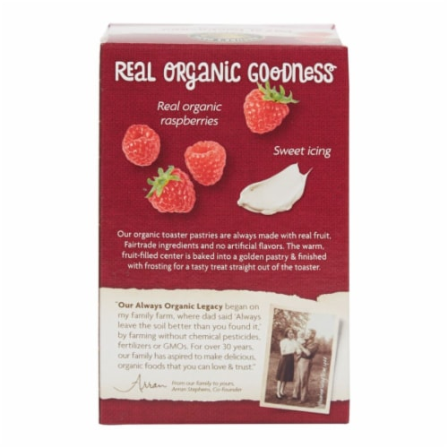 Nature's Path Organic Frosted Razzi Raspberry Toaster Pastries Perspective: back