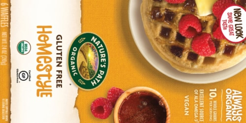 Nature's Path Organic Gluten Free Homestyle Waffles 6 Count Perspective: back