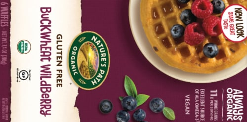 Nature's Path Organic Gluten Free Buckwheat Wildberry Waffles 6 Count Perspective: back