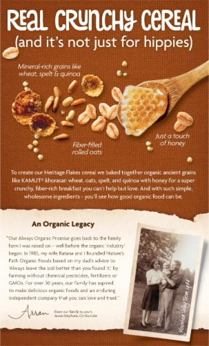Nature's Path Organic® Heritage Flakes® Cereal Perspective: back