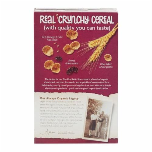 Nature's Path Organic Flax Plus Raisin Bran Cereal Perspective: back