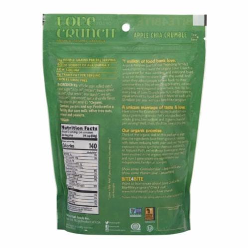 Nature's Path Organic Love Crunch Apple Chia Crumble Premium Granola Perspective: back