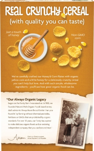 Nature's Path Organic® Sunrise Crunchy Honey Cereal Perspective: back