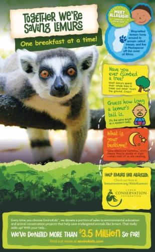Nature's Path Organic EnviroKidz Peanut Butter & Chocolate Leapin' Lemurs Cereal Perspective: back