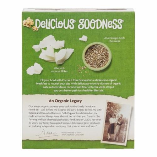 Nature's Path Organic Coconut Chia Granola Perspective: back
