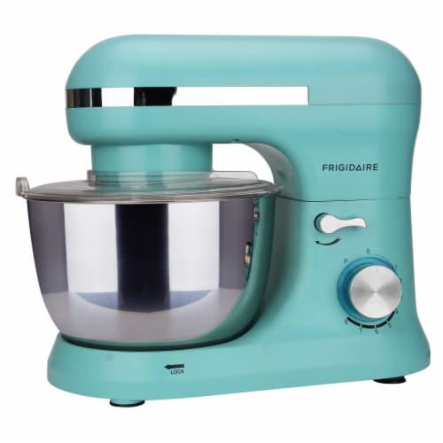 Frigidaire 4.5 Liter 8 Speed Electric Countertop Stand Mixer w/Accessories, Blue Perspective: back