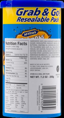 McVitie's Milk Chocolate Hobnobs Cookies Tube Perspective: back