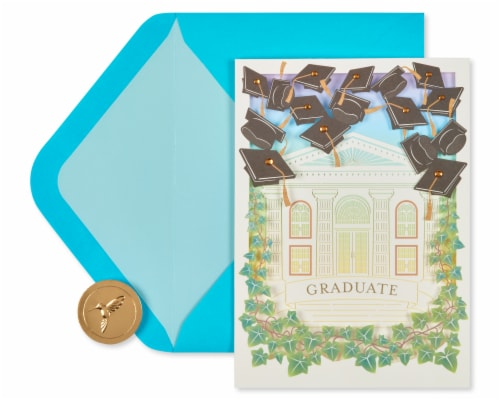Papyrus Graduation Card (Bright Future) Perspective: back