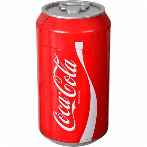 Koolatron 8 Can Official Coca-Cola AC/DC Electric Mini Fridge Beverage Cooler Perspective: back