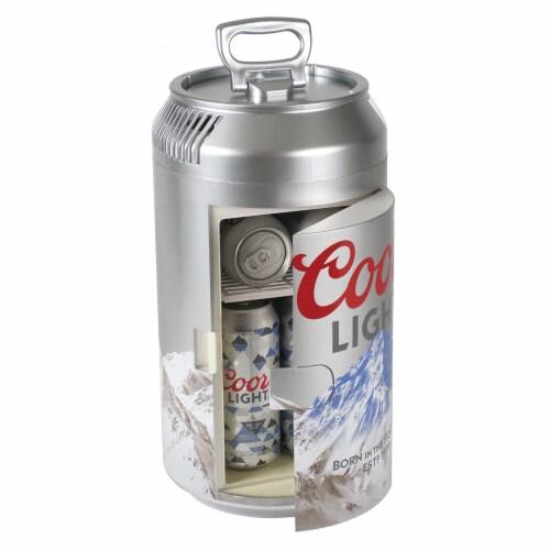 Koolatron CL06 Official Coors Light Design 8 Can AC/DC Electric Mini Cooler Perspective: back