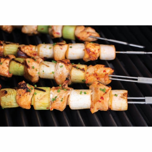 Broil King 12 In. Stainless Steel Dual Prong Skewer (4-Pack) 64049 Perspective: back