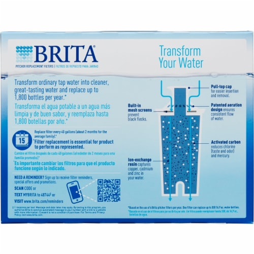 Brita Pitcher Filters - White Perspective: back