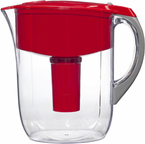 Brita Grand 10-Cup Water Filtration Pitcher - Red Perspective: back