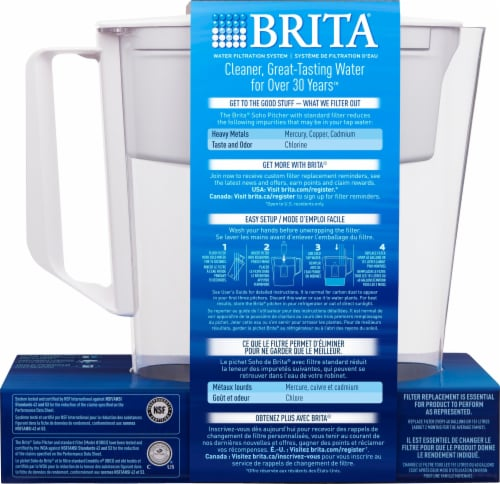Brita Soho Water Filter and Pitcher - White Perspective: back