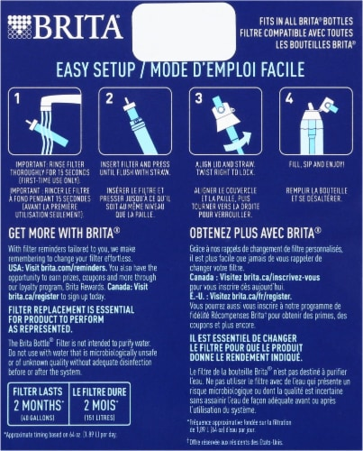 Brita Water Bottle Filter Replacements Perspective: back