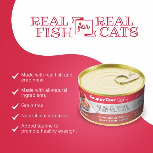 Snappy Tom Lites Tuna with Crabmeat 5.5oz (24 Pack) Perspective: back