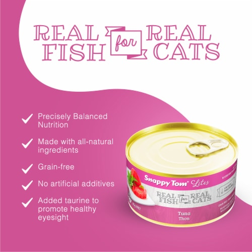 Snappy Tom Lites Tuna 3oz (24 Pack) Perspective: back