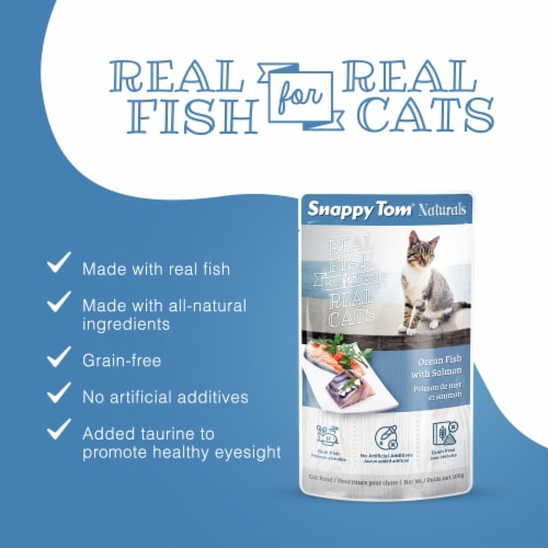 Snappy Tom Naturals Ocean Fish with Salmon 3.5 oz (12 Pack) Perspective: back