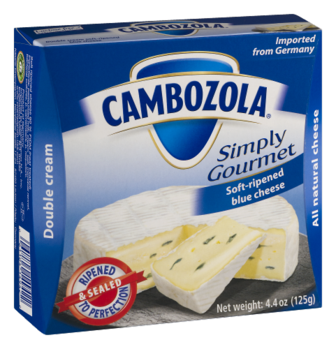 Cambozola Simply Gourmet Soft-Ripened Double Cream Blue Cheese Perspective: back