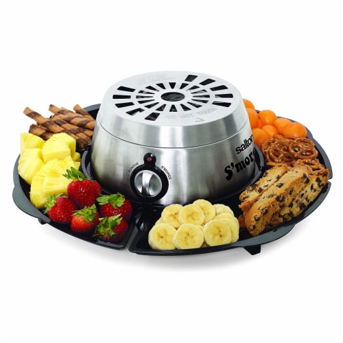 Salton SP1717 Indoor Electric S'more and Fondue Maker with 4 Roasting Forks Perspective: back