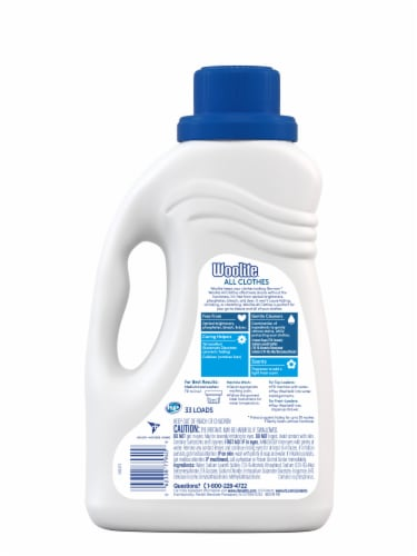 Woolite Clean & Care Sparkling Falls Scent Liquid Laundry Detergent Perspective: back