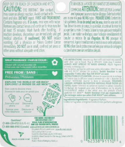 Air Wick Cherry & Coconut Paradise Retreat Scented Oil Refills Perspective: back