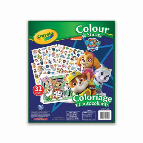 Crayola Colour & Sticker Book - Paw Patrol Perspective: back