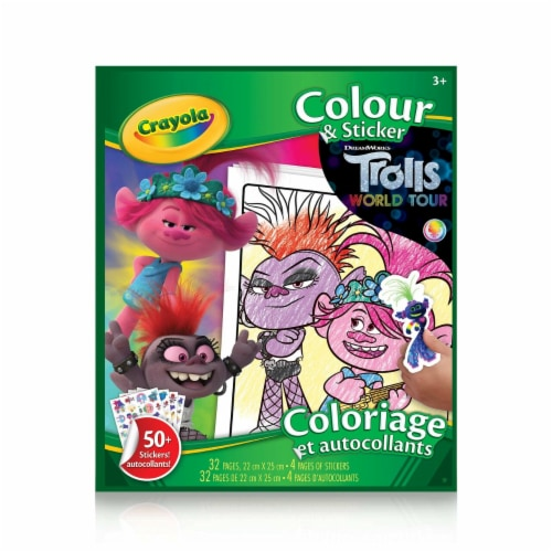 Crayola Color & Sticker Book - Trolls World Tour Perspective: back