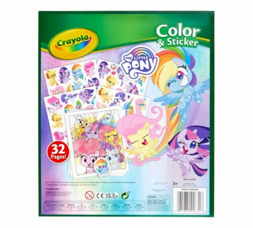 Crayola - Colour & Sticker Book My Little Pony Perspective: back