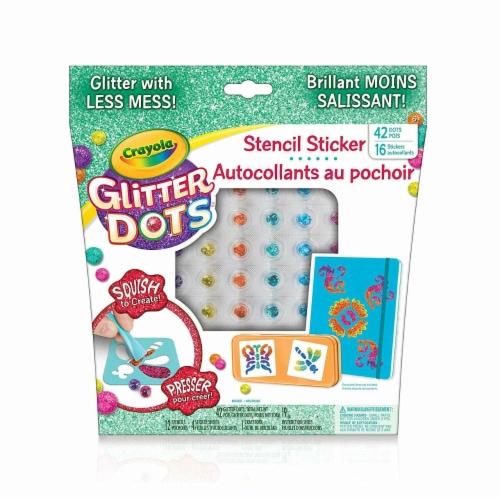 Crayola Glitter Dots Sticker Stencils - Custom Glitter Stickers Perspective: back