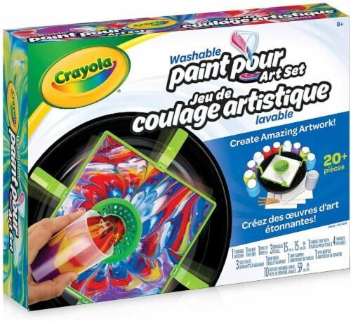 Crayola Washable Paint Pour Art Set Perspective: back
