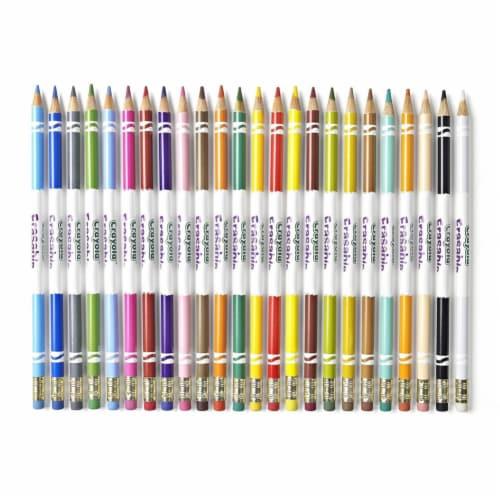 Crayola 24 Erasable Colored Pencils Perspective: back