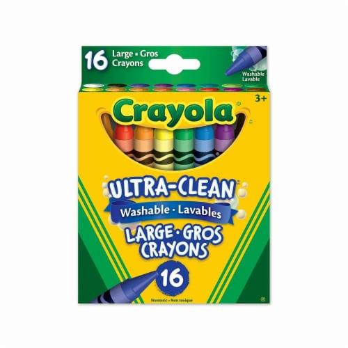 Crayola 16 Large Washable Crayons Perspective: back