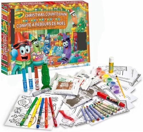 Crayola Christmas Countdown Activity Advent Calendar Perspective: back