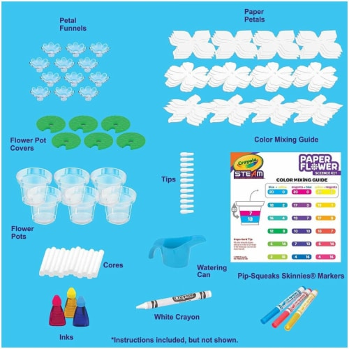 Crayola Paper Flower Science Kit Perspective: back