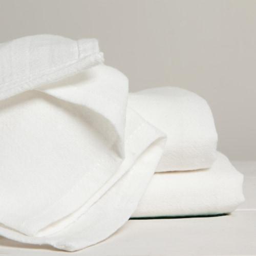 Now Designs Flour Sack Soft Cotton Kitchen Dish Towels Unbleached Set of 3 Perspective: back