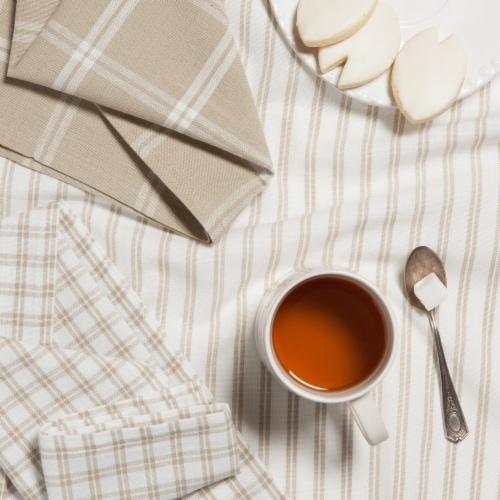 Now Designs Tic Tac Toe Sandstone 100% Cotton Kitchen Dish Towels Perspective: back