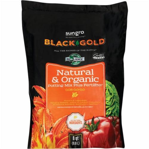 Black Gold 8 Qt. 8 Lb. All Purpose Natural & Organic Potting Soil 1402040.Q08P Perspective: back