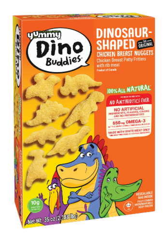 Yummy® Dino Buddies® Dinosaur Shaped Chicken Breast Nuggets Perspective: back