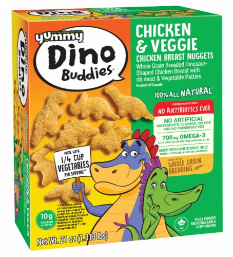 Yummy® Dino Buddies® Chicken and Veggie Nuggets Perspective: back