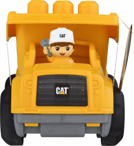 Mega Bloks® CAT Lil Dump Truck - Yellow/Black Perspective: back