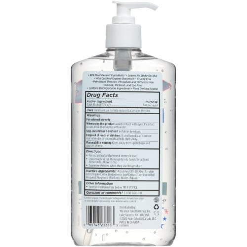 Live Clean Hand Sanitizer Perspective: back