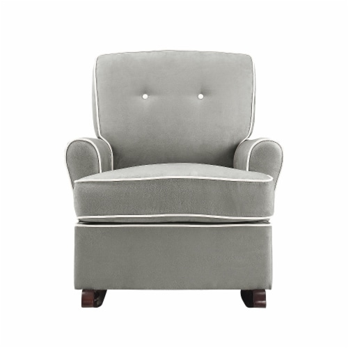 Baby Relax Tinsley Contemporary Upholstered Rocker in Gray Perspective: back