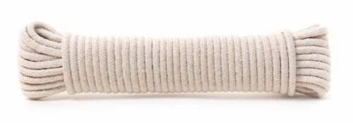KingCird Cotton Diamond Braid Venetian Blind Cord - Natural Perspective: back